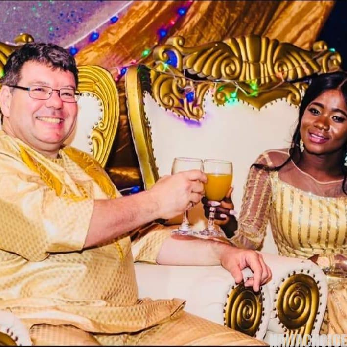 Wow! Beautiful African Bride Marries Her Oyinbo Lover (Photos)