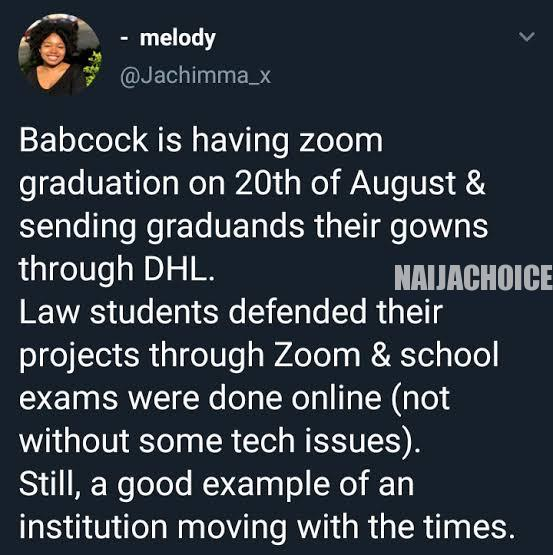 Babcock University To Conduct Graduation Online