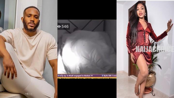 BBNaija: Erica And Kiddwaya Caught Cuddling Aggressively Under The Sheets (Video)