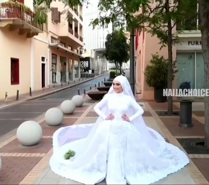 Lebanon Explosion: The Moment A Bride Ran For Her Life During A Photoshoot