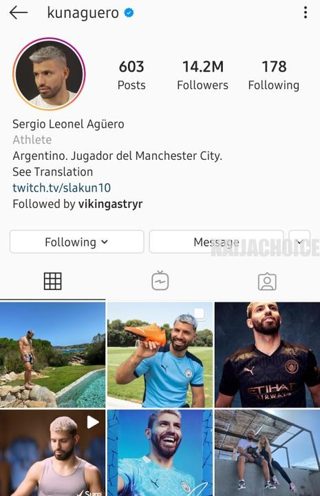Messi To Likely Move To Manchester City As Aguero Removes No 10 From Instagram