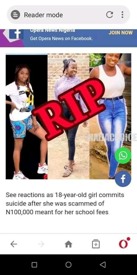 University Of Calabar 100 Level Student Commits Suicide (Photos)