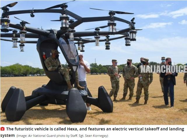 US Air Force Unveils Flying Car That Could Shuttle Troops Across War Zones (Pix)