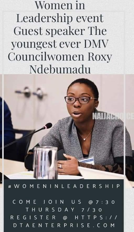27-Year-Old Nigeria Lady Who Is The Chairwoman Of Bowie County, Maryland USA (Pix)