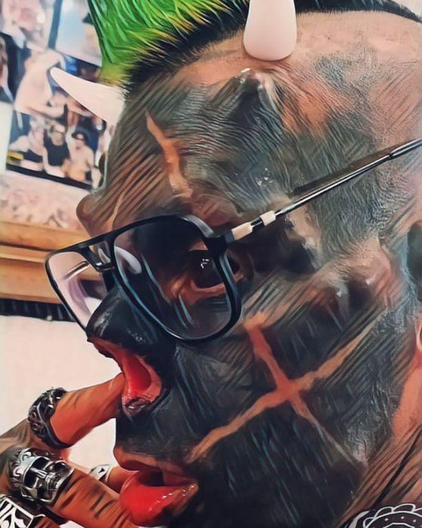 'Human Satan' Slices Off Nose & Gets Horns Implanted Onto His Head (Graphic Pix)