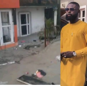 AY's Brother, Yomi Casual's Store Vandalized & Looted By Hoodlums In Lagos (Video)