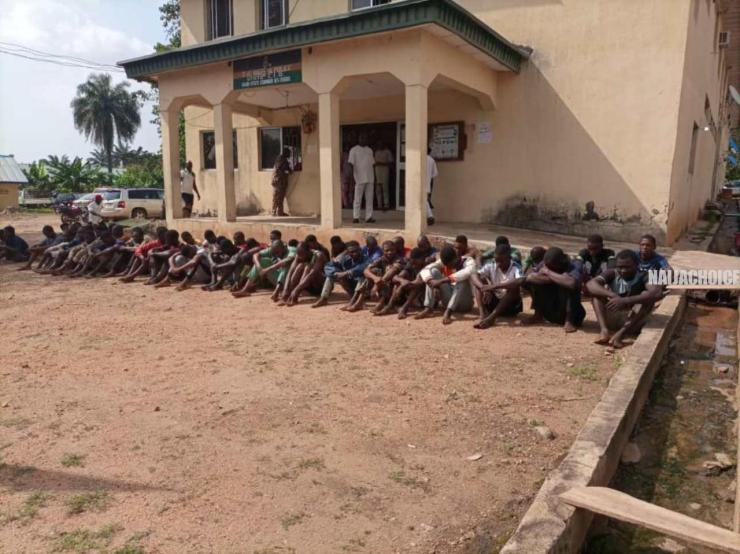 #EndSARS: Osun Police Parades 86 Suspects , Recovers Loots (Pictures)