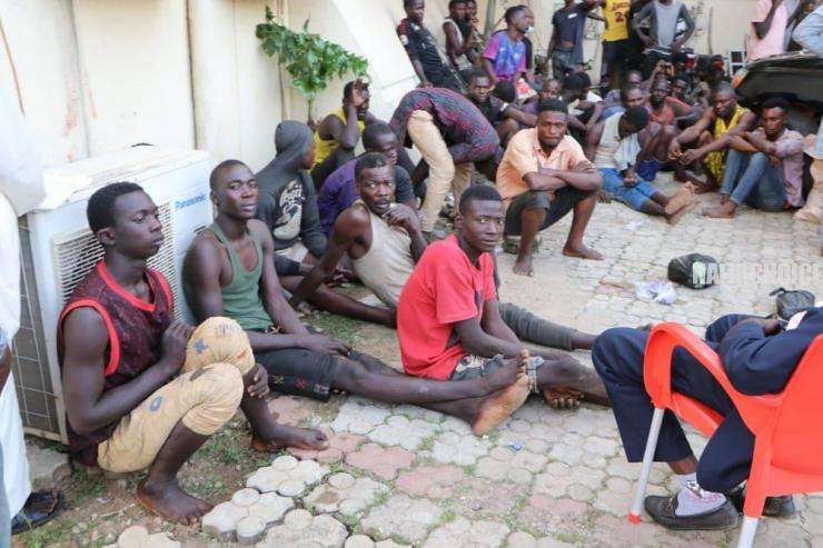 Police Parade 201 Suspected Looters In Abuja