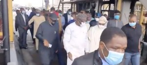 South West Governors And Ministers Visit Locations Destroyed In Lagos Riots
