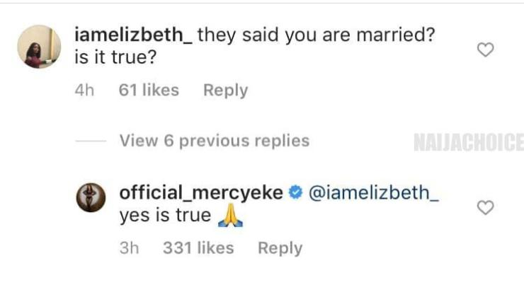 BBNaija Winner, Mercy Confirms She Is Married. Says She Broke Up With Ike Months Ago