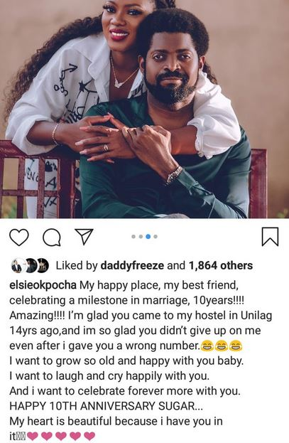 Comedian Basket Mouth And Wife, Elsie Celebrate 10th Wedding Anniversary