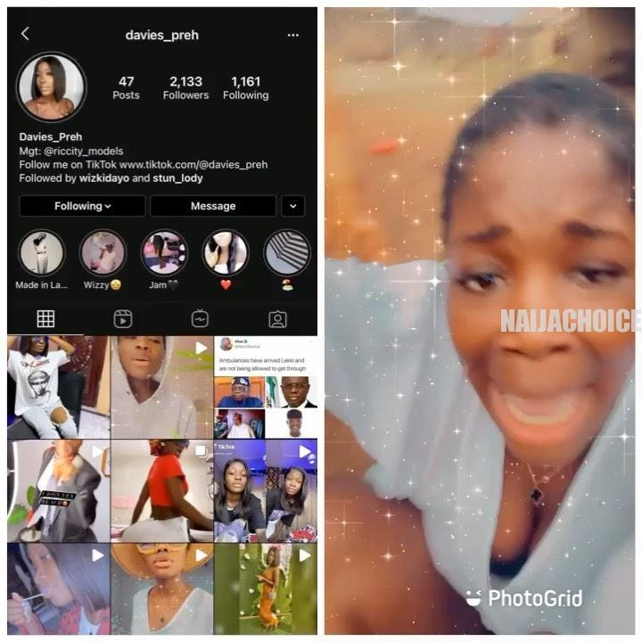 Lady Goes Gaga After Wizkid Followed Her On Instagram (Photos, Video)