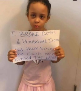 Check Out The Hilarious Way Parents Punished Their Daughter Who Broke Eggs Then Blamed The Dog