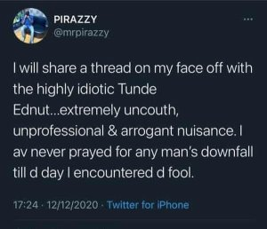 Reason Why Tunde Ednut's Account Got Banned Again & Why He Can No longer Use Instagram Forever