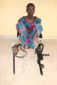 See the 16-year-old Suspected Female Bandit Caught With Dangerous Weapons In Niger State (Photo)