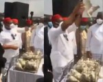 Watch As Pigeons Also Refused To Fly At The Armed Forces Remembrance Day Celebration In Imo (Video)