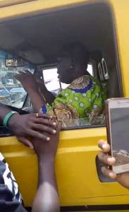 Woman Hijacks Commercial Bus From Lagos Driver (Video, Photos)