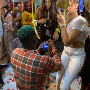 """""""She Said YES"""" – Skales Proposes To His Girlfriend (Photo)"""