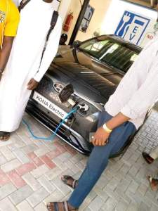 First Solar Powered Car Charging Station In Sokoto - (Photos)
