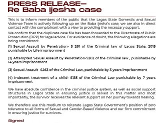 Lagos DSVRT Gets Involved In The Baba Ijesha Case
