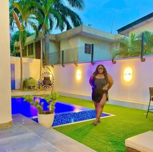 """Plus-Size With The Flavor"" — Eniola Badmus Poses In Swimwear (Photo)"