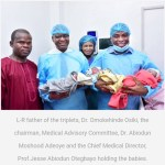 University College Hospital, Ibadan Delivers First IVF Triplets (Photo)