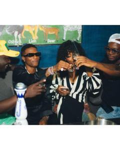 Wizkid Dances With Gyakie & King Promise In Ghana (Photos, Video)