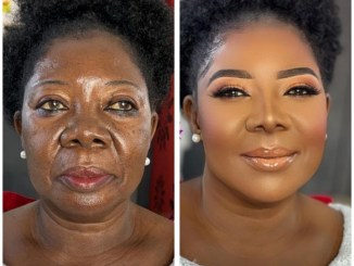 Makeup Transformation Of A 75-Year-Old Ghanaian Woman (Before & After Photos)