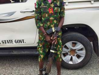 A Fake Soldier Apprehended In Nasarawa State By The Nigeria Police Force (Photos)