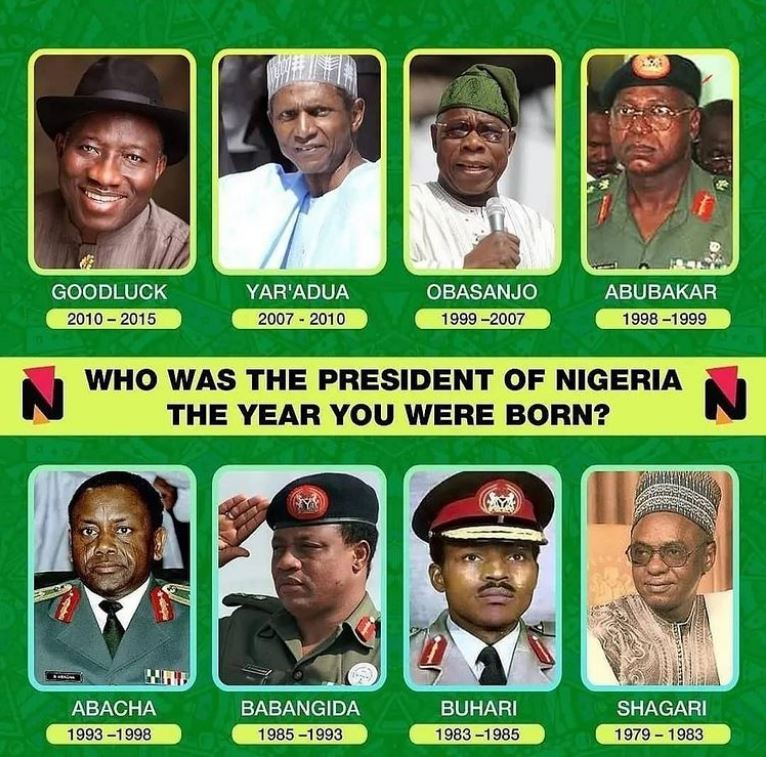 Who Was The President Of Nigeria When You Were Born?