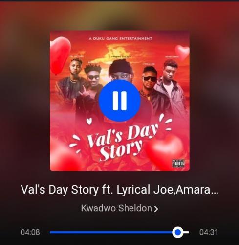 Kwadwo Sheldon – Val's Day Story Ft. Lyrical Joe, Amerado, Romeo Swag, Kev The Topic mp3 download