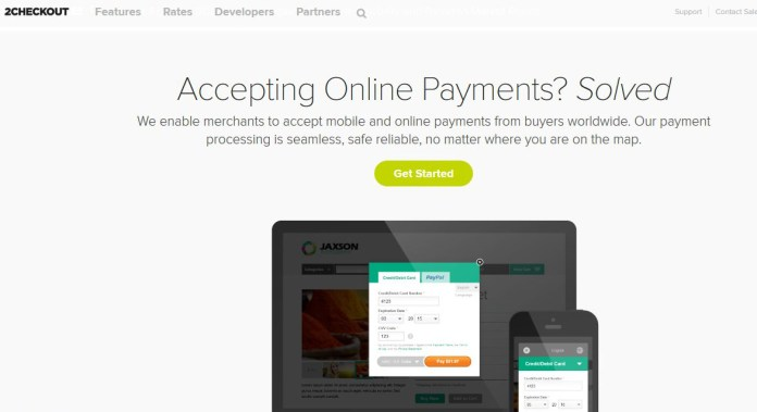 2checkout can be used to receive payments instead of paypal