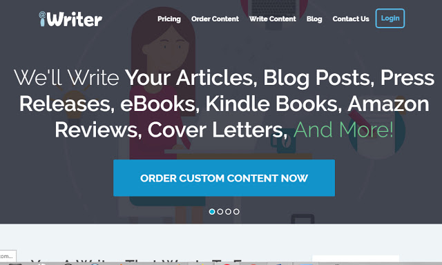iWriter: We'll write your articles, blog posts, press releases, ebooks, kindle books, amazon reviews, cover letters, and more.