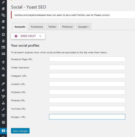 adding social accounts
