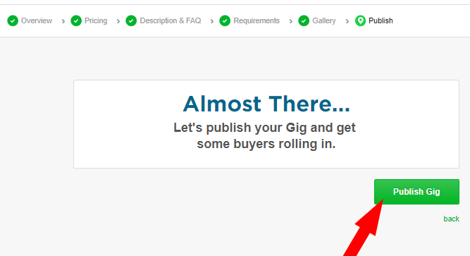 Click on Publish your gig
