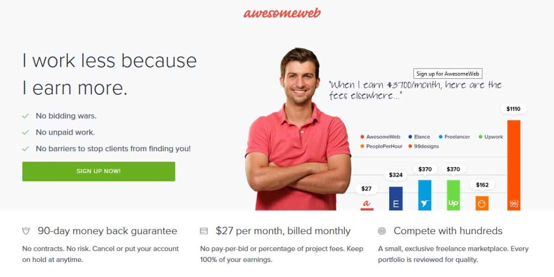 Awsomeweb: I work less because I earn more