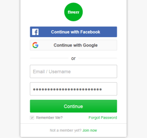 Login to your Fiverr account