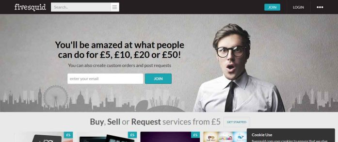Homepage of Fivesquid.com