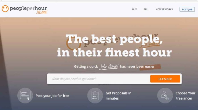PeoplePerHour homepage