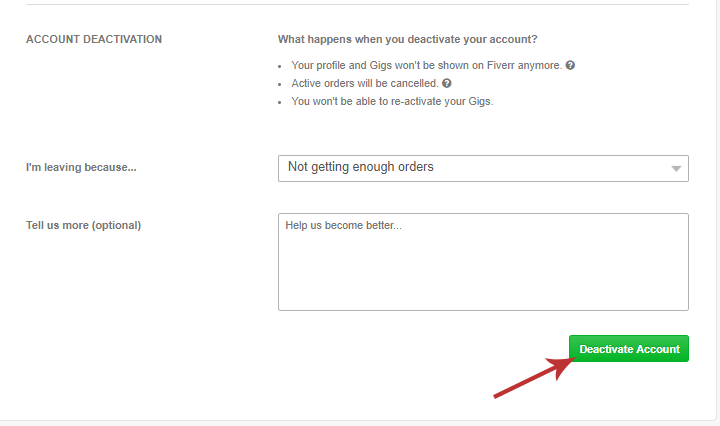 how to delete your fiverr account in 4 easy to follow steps