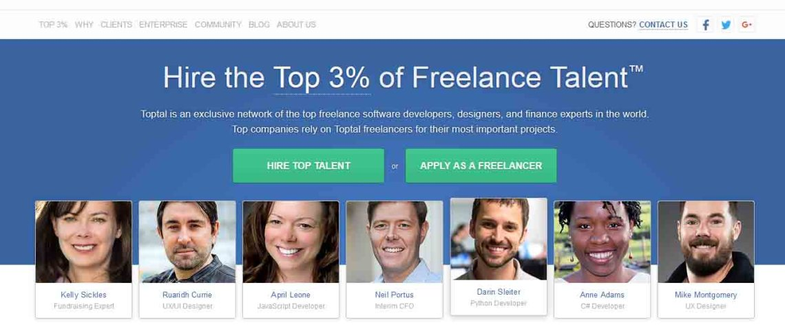 TopTal: Hire the top 3% of Freelance Talent.