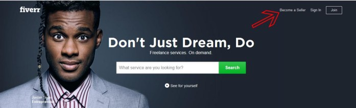 Become a seller on Fiverr