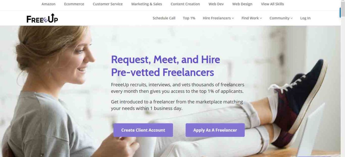 Freeeup: Meet and hire pre-vetted freelancers