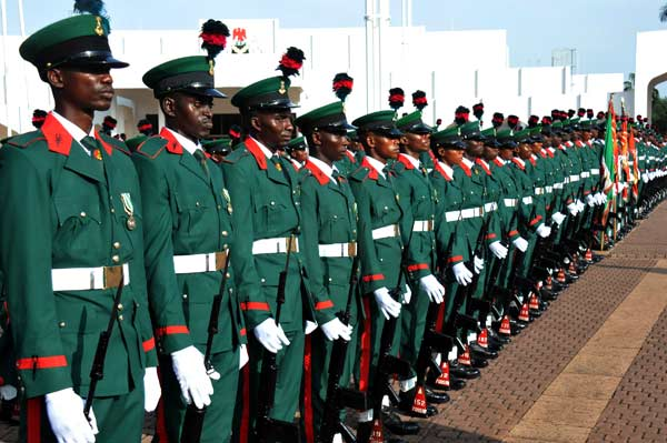 Parade by the Nigerian Army