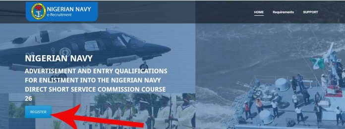 Nigerian navy registration for Direct Short Service Commissions