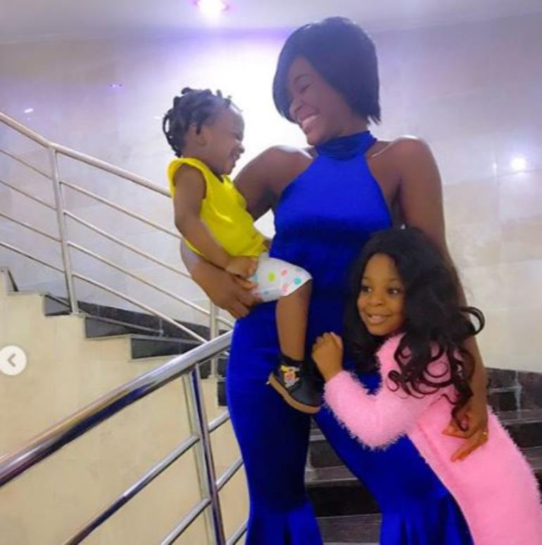 Photo of Chacha Eke and her two daughters