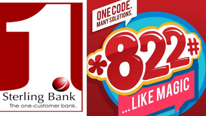Sterling bank USSD code *822# works like magic
