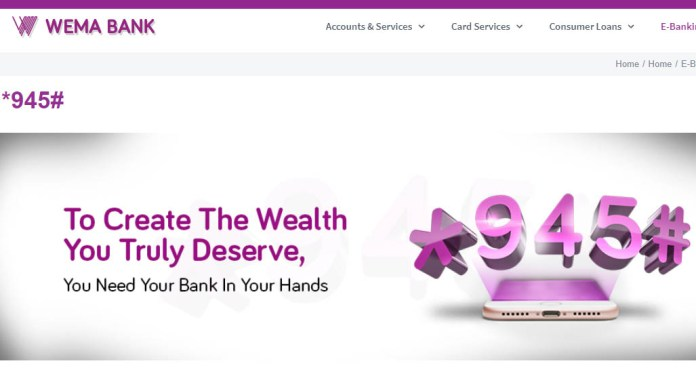 Wema Bank USSD code for transfer, recharge, checking account balance