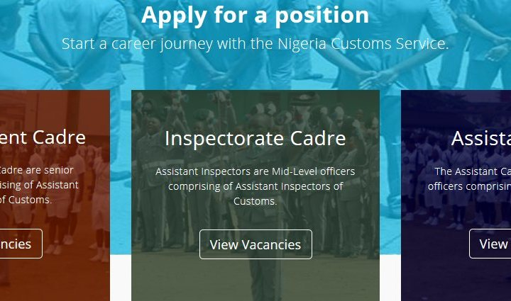 Start a Journey with the Nigeria Customs: Apply for a position