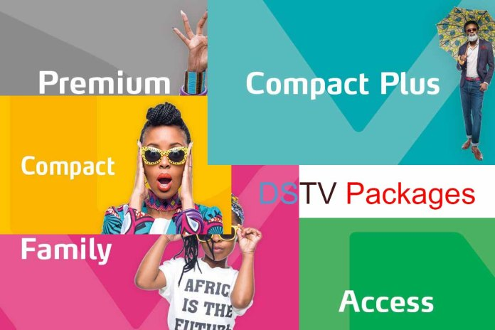 List of DSTV packages in a photo collage